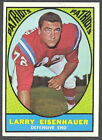 1967 TOPPS FOOTBALL 9 LARRY EISENHAUER PATRIOTS EX-NM