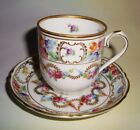 Floral Garland Schumann Bavaria Germany Tea Cup and Saucer Demitasse Set