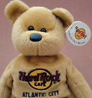 Hard Rock Cafe Isaac Beara Teddy Bear Atlantic City Promo Bean Bag Plush Tag