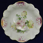 German FLUTED BOWL Decorated with ROSES