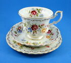 Royal Albert Jubilee Rose Tea Cup, Saucer and Plate Trio Set