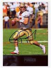 Christian Ponder 2011 Upper Deck College Football Legends On Card AUTOGRAPH