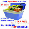 24 Litre Car Home Camping Picnic 12V Fridge Food Drink Warmer Cool Cooler Box ST