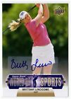Brittany Lincicome 2011 Upper Deck World of Sports Pro Golfer AUTOGRAPH #88
