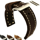 Two-piece Genuine Leather Hand-Stitched Watch Strap Band 22 24 26 Sirius MM