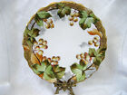 "FLAMEBEAU-LDBC-Limoges Hand Painted Signed Gold Grape Vine 8 ½"" Plate 1890-1914"