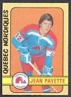 1972 73 OPC O PEE CHEE WHA 311 JEAN PAYETTE EX+ QUEBEC NORDIQUES HOCKEY CARD