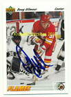DOUG GILMOUR Mint AUTO 1991 92 UPPER DECK CARD Calgary Flames HOF WoW