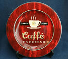 Sakura COFFEE BREAK Salad PLATE Red Caffe Espresso Dessert Pie Angela Staehling