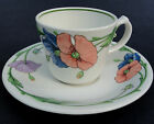 Villeroy & Boch Tea Cup & Saucer Amapola Coral Blue Poppy Germany Retired