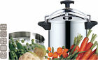 Stainless Steel 10 Litre Pressure Cooker with basket XL