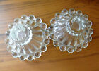 VINTAGE ANCHOR HOCKING BOOPIE CLEAR GLASS CANDLE HOLDER FOR TAPER CANDLES.