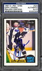 1987 88 OPC #240 GARY LEEMAN PSA DNA CERTIFIED AUTOGRAPH AUTO SIGNED MAPLE LEAFS