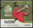 2012 Upper Deck SP Authentic Golf Hobby Box - Factory Sealed Box - 3 Autos a Box