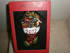 CHRISTOPHER RADKO 2012 CHRISTMAS STOCKING ORNAMENT NEW IN BOX