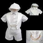 New Born Baby Boy Infant Christening Baptism Formal Tuxedo Suit White 0 50 30M