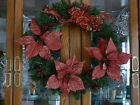 Absolutely Lovely Christmas Red Gold Gold Glitter Decorations Bow Wreath