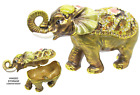 Elephant Floral Jeweled Trinket Box with SWAROVSKI Crystals by RUCINNI