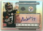 2009 Topps Platinum #135 Mike Wallace Auto Autograph Rookie Card RC #ed 100