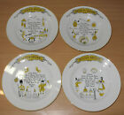 Vintage 4 pc Set World Of Soup Bowls Shafford American French English Italy