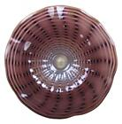 23 Hand Blown Art Glass Table Platter Plate Bowl Grey Purple Wall Hanging Mount
