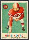 1959 TOPPS CFL FOOTBALL 35 MIKE KOVAC EX COND MONTREAL ALOUETTES WESTREN UNIV