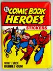 1975 Topps COMIC BOOK HEROES Complete Set with Puzzle and Wrapper
