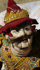 ANTIQUE 19C  ASIAN LARGE WOODEN HAND PAINTED STRING MARIONETTE PAPPET RARE