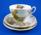 Scenic Shelley Heather Tea Cup, Saucer and Plate Set Trio