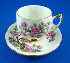 Oriental Pink Blossom Tree Royal Vale Tea Cup and Saucer Set