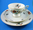 Floral Pedestal Thomas Bavaria Germany Tea Cup, Saucer and 7 3/4