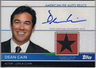 2011 TOPPS AMERICAN PIE RELIC AUTO: DEAN CAIN - WORN SWATCH AUTOGRAPH