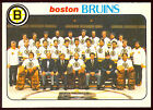 1978 79 OPC O PEE CHEE 193 BOSTON BRUINS TEAM UNMARKED NM W CHEEVERS DON CHERRY