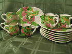 Shafford  Luncheon Set 14 Pieces 'FRUIT DU JOUR'  Strawberries 1987  NEW