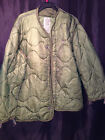 LINER COLD WEATHER COAT M65 FIELD JACKET QUILTED NYLON USGI US MILITARY SMALL VG