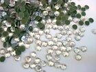 144 Hot Fix Iron On Round Flatback Rhinestone SS10 3mm FREE SHIP Crystal Clear