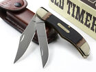 Schrade Old Timer Folding Hunter Knife 25OT Stainless Steel Hunting with Sheath