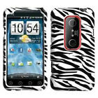 For Sprint HTC EVO 3D Protector HARD Case Snap on Phone Cover Black White Zebra