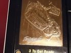 Two 22kt Gold Dale Earnhardt Collectors Cards Limited Edition by Sam Bass