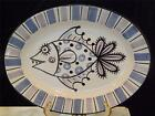 LARGE DERUTA HAND PAINTED FISH PLATTER PLATE TRAY MAJOLICA