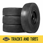 4 New 12x165 Smooth Flat Proof Solid Skid Steer Tires  John Deere New Holland