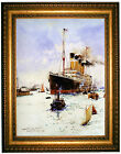 Dixon RMS Olympic leaving Southampton - Gold Framed Giclee Canvas Art M 25x31
