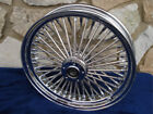 21X35 DNA FAT MAMMOTH 52 FAT SPOKE FRONT WHEEL FOR HARLEY TOURING BAGGER 00 07