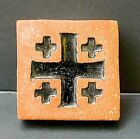 Gladding McBean Chunky Cross Tile/Black