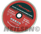 Neilson Electric Tile Saw Replacement Diamond  Blade Wet Cutting Ceramic 19b