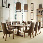 TRIBECCA HOME Atelier Traditional French Burnished Brown Pedestal 9-piece Dining