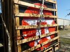 LARGE TEXACO STAR SIGN -  NOS - New - Double Sided - Still In Crate