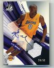 2004-05 Upper Deck SP Authentic Kobe Bryant Autograph & Jersey Auto Jersey 26 50