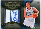 2008-09 EXQUISITE COLLECTION SCRIPTED SWATCH ROOKIE AUTO PATCH KEVIN LOVE #06 25
