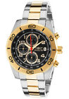 Invicta 16081 Men's Pro Diver Chronograph Two-Tone Bracelet Black Dial